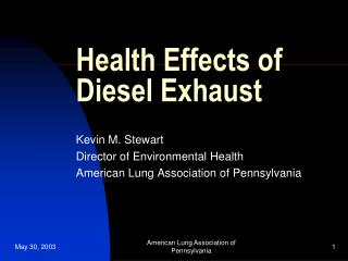 Health Effects of Diesel Exhaust