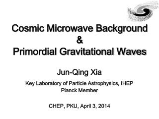 Cosmic Microwave Background & Primordial Gravitational Waves