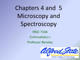 Chapters 4 and  5  Microscopy and Spectroscopy