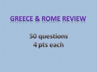 Greece & Rome Review