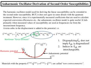 Anharmonic  Oscillator Derivation of Second Order Susceptibilities