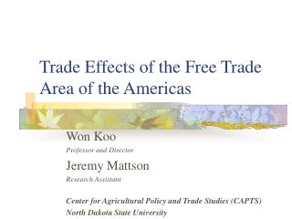 Trade Effects of the Free Trade Area of the Americas