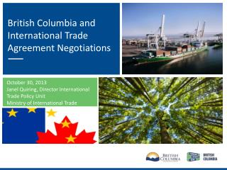 British Columbia and International Trade Agreement Negotiations