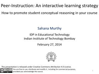 Sahana Murthy IDP in Educational Technology Indian Institute of Technology Bombay