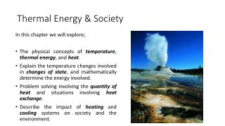 Thermal Energy & Society