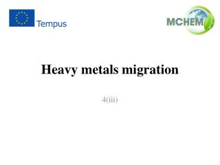 Heavy metals migration