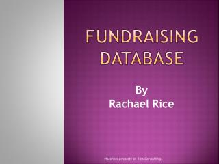 Fundraising Database