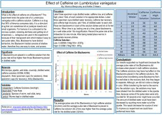 the effect of nicotine on the heart rate of the lumbriculus variegatus essay The effects of alcohol on the pulse rate of the lumbriculus variegatus by: mallory broda &amp andrea aman.