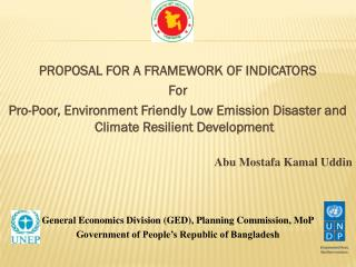 PROPOSAL  FOR  A FRAMEWORK  OF INDICATORS For