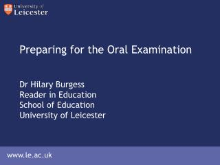 preparing for your thesis oral examination How to prepare for your thesis defence how to prepare for the oral defense of your thesis/dissertation 23 aug 2013 evaluation of oral examination is based on.