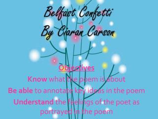 Belfast Confetti By Ciaran Carson