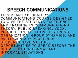 Speech Communications