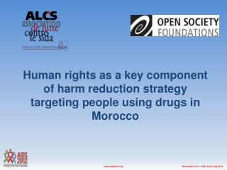 Drug use and Harm Reduction in Morocco