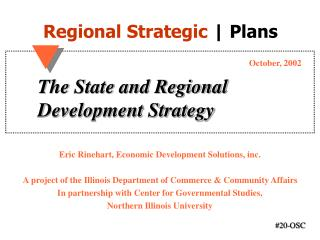 The State and Regional Development Strategy