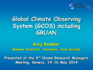 Global Climate Observing System (GCOS) including GRUAN