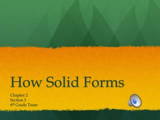 How Solid Forms