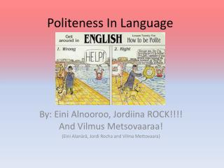 Politeness In Language