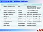 REFERENCES   Analyzer Systems