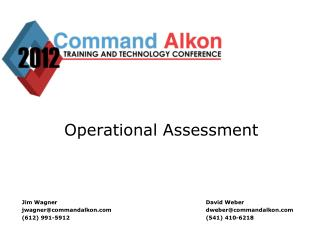 Operational Assessment