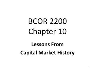 BCOR 2200 Chapter 10