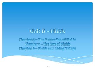 Unit B – Fluids