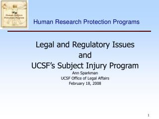 Human Research Protection Programs