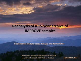 Reanalysis of a 15-year archive of IMPROVE samples