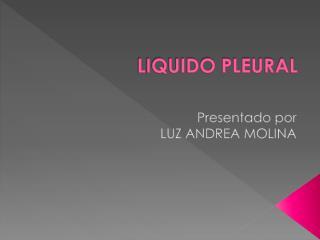 LIQUIDO PLEURAL