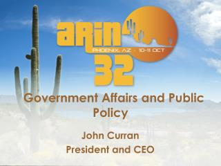 Government Affairs and Public Policy