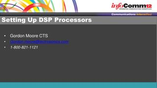 Setting Up DSP Processors
