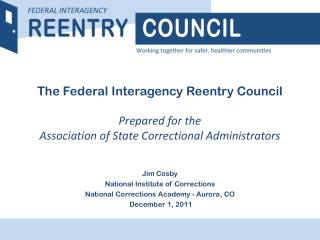 Jim Cosby National Institute of Corrections National Corrections Academy - Aurora, CO