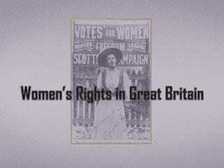 Women's Rights in Great Britain