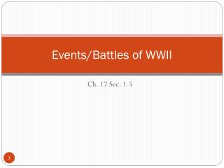 Events/Battles of WWII