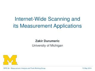 Internet-Wide Scanning and its Measurement Applications