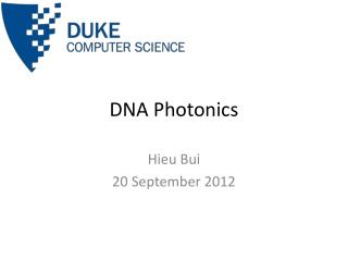 DNA Photonics