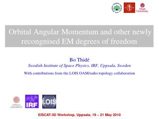 Orbital Angular  Momentum and  other newly  recongnised  EM degrees of freedom