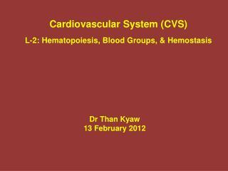 Dr Than  Kyaw 13 February 2012