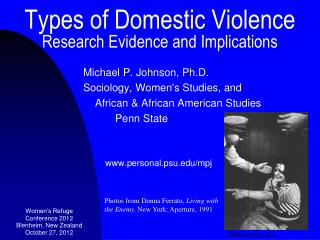 Types of Domestic Violence Research Evidence and Implications
