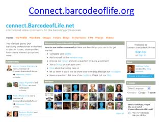 Connect.barcodeoflife.org