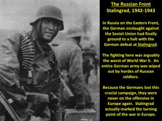 The Russian Front Stalingrad, 1942-1943