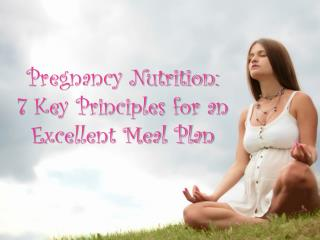 7 Key Principles for an Excellent Meal Plan - Perfect Pregna