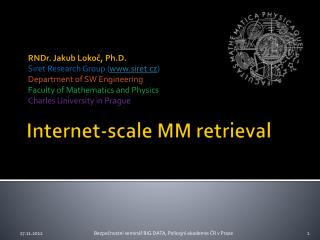 Internet- scale  MM retrieval