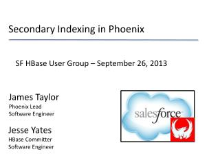 Secondary Indexing in Phoenix