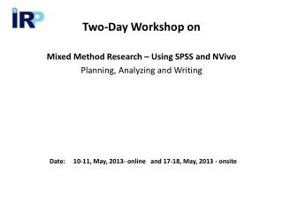 Two-Day Workshop on