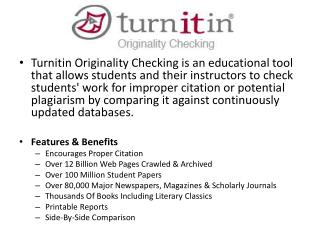 Go to  www.turnitin.com Register as a new user Class ID : Enrollment Password:  chomsky