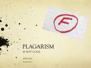 PLAGARISM