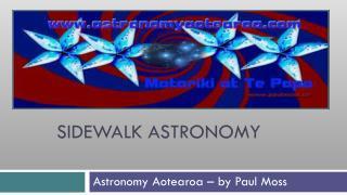 SIDEWALK ASTRONOMY