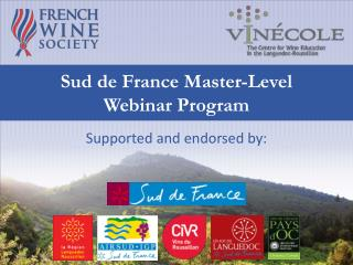 Sud de France Master- Level Webinar Program