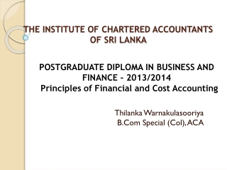 Accounting for Investments in Associates and Subsidiaries