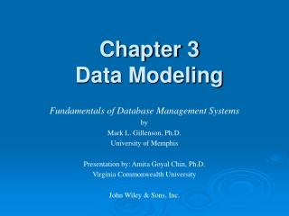 Chapter 3 Data Modeling